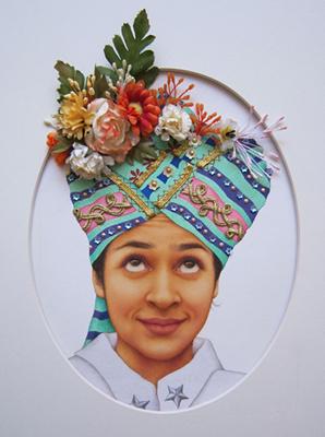 Sir-Taj, 2012, Gouache, watercolor and mix-media on Wasli, 21 x 16 cm