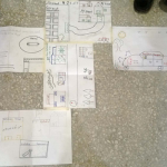 Map drawing assemblage by Behbod boys