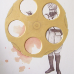 Loaded I, 2007, Gold paint and transparent watercolor on Wasli, 5 x 7 inches