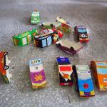3D paper car constructions