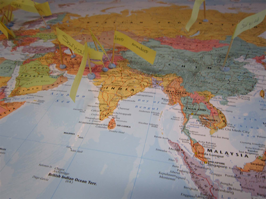 Image of a map activity