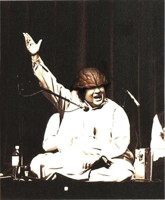 Nusrat Fateh Ali Khan, 2013, Gouache and watercolor on Archival print, 12.7 x 16 cm