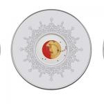 Boom Boom Boom (Triptych), 2012, Screen print, Lead pellets and Gouache on Wasli, 20 inch diameter
