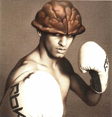 Amir Khan, 2013, Gouache and watercolor on Archival print, 7.5 x 8 cm