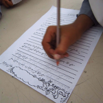 Student creating story