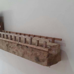 Construction II, found wood and mix-media, height 1', dept. 6', width 4'